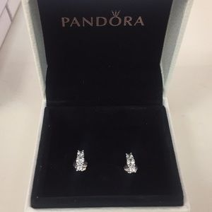 Authentic sparkling elegance pandora earrings
